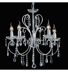 Pendant light crystal silver - Pavia
