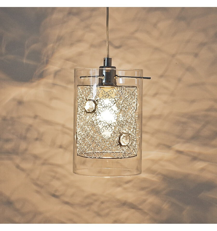 Design Pendant Light Cylindrical Glass Camelia