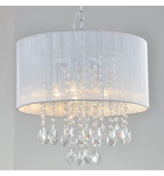 Pendant light prestige design crystal white - Regina