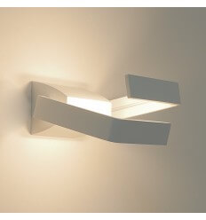 Wall light - LED aluminium design 2 Light rectangle - Arca