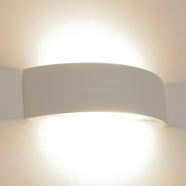 Wall light - LED aluminium half-moon white - Arca