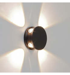 Wall light - LED round aluminium black small rounds - Kina