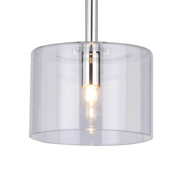 Pendant light - circle transparent glass - Galia