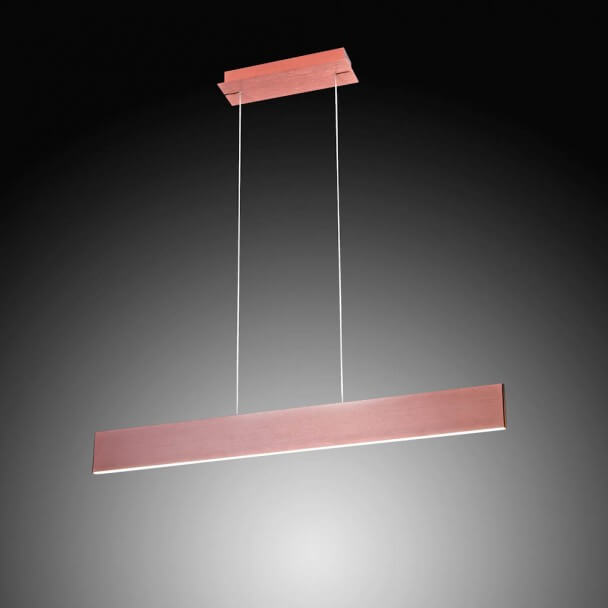 Pendant light - LED design long brown bar - Cruise