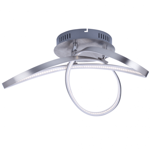 Ceiling light LED modern 3 loops satin nickel - Acht