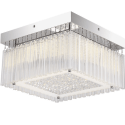 Ceiling light square crystal LED 30x30 cm - Vinci