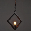 Suspension industrielle losange - Rusty