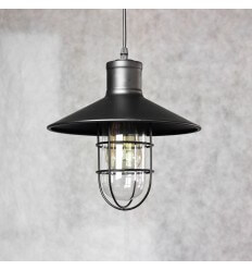Suspension industrielle vintage noire - Yura