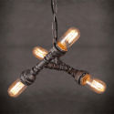Industrial Pendant Light 3 lights Pipes Design - Lyna