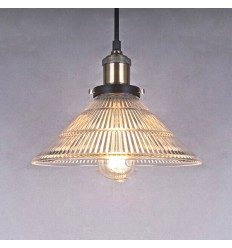 Vintage Pendant Light with Holophane Cone - June