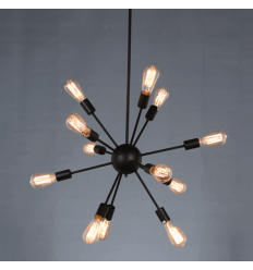 Black Satellite Pendant Light 12 Lights - Kapella