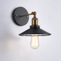 Retro Style Wall Light with Reflective Glass - Amber