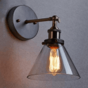 cone glass interior wall light - Dallas