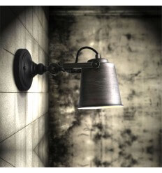 Adjustable Black Industrial Wall Light - Ignis