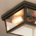 Square-shaped Industrial Ceiling Light - Velia