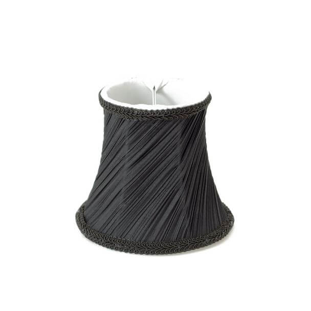 Lampshade black pleated design for chandelier or Wall light - Jen