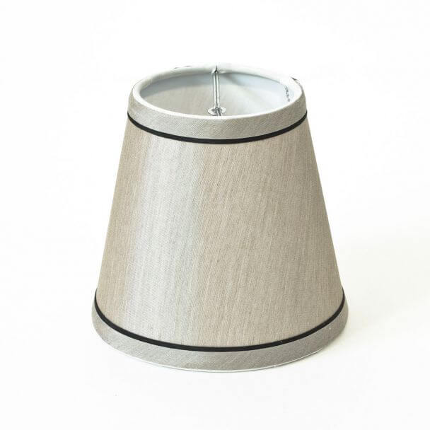 Lampshade silver and black modern for chandelier or Wall light - Judy