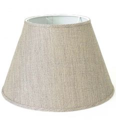 Lampshade linen beige modern for lamps - Tina