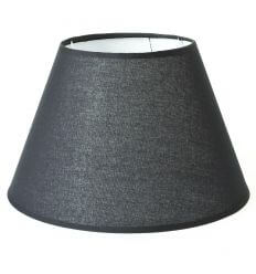 Lampshade linen black modern for lamps - Tom