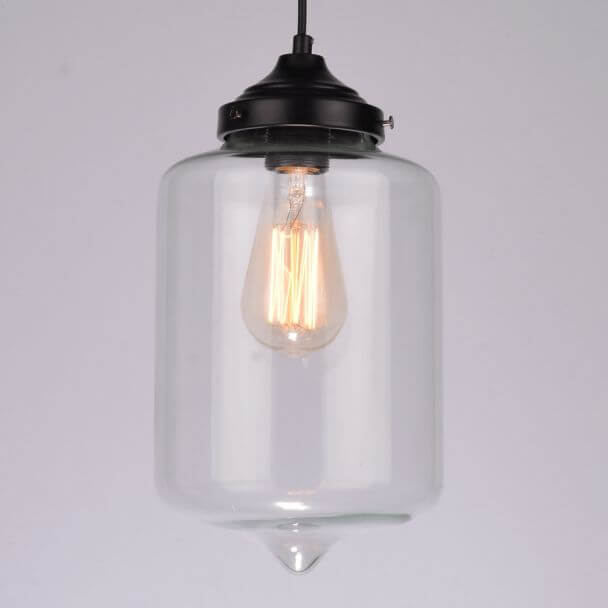 Pendant light design transparent glass - Inna