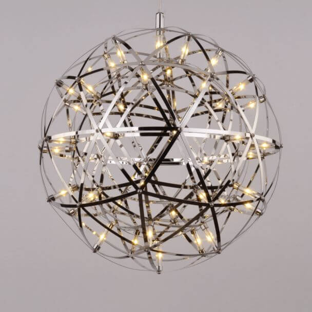 Pendant light LED design chromed metal - Carolina