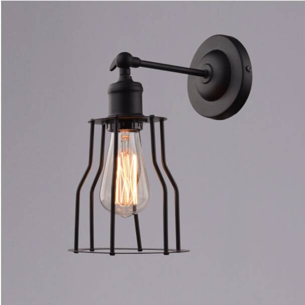 Wall light design industrial black- Fanzio