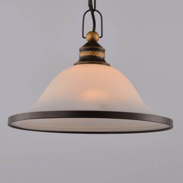 Pendant light design white glass 1 light - Natura