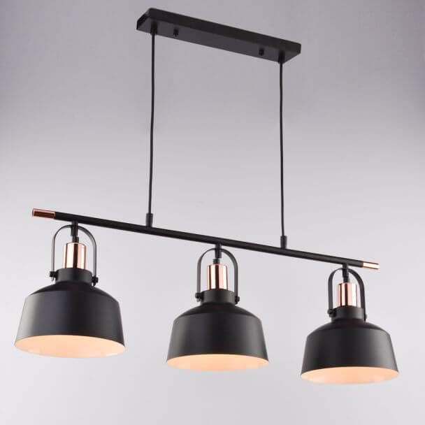 Pendant light design triple black - Musso