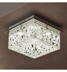 LED Chrome Ceiling Light with Crystals - Igloo