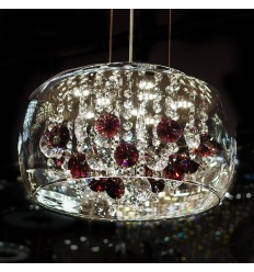 pendant light crystal prestige - Flora
