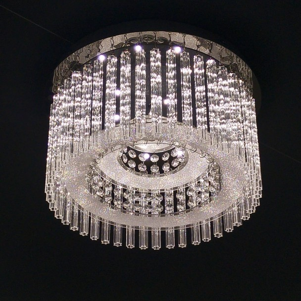 Ceiling light round crystal LED D45 cm - Vinci