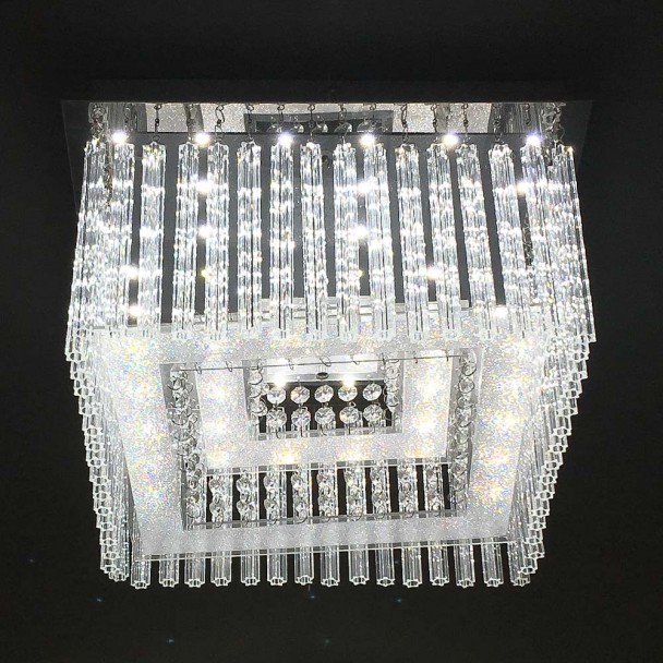 Ceiling light square crystal LED 36x36 cm - Vinci