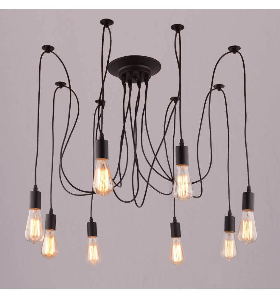 Spider Pendant Light Multiple Edison Bulbs