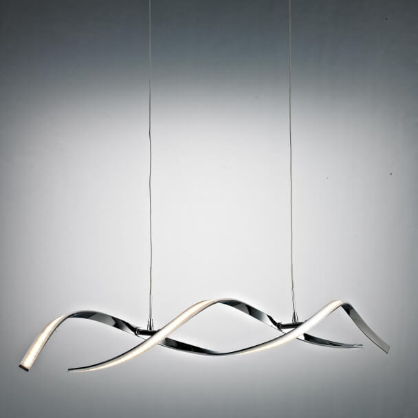 Pendant light - LED design long wavy bar 110 cm - Galba