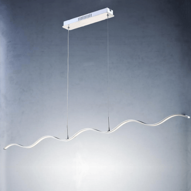 Pendant light - LED design long wavy bar 120 cm - Onda
