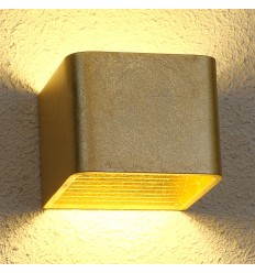 LED 6W gold wall light Quadra - 10 cm