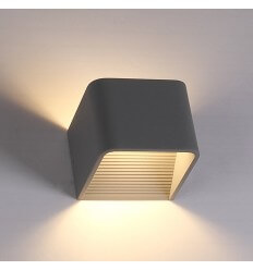 LED 6W grey wall light Quadra - 10 cm