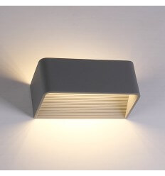 LED 6W grey wall light Quadra - 20 cm