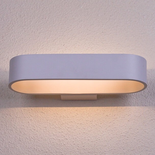 LED oval aluminum wall light 26 cm - Dro