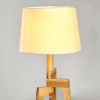 Wooden Modern Tripod Table Lamp with Linen Shade - Elen