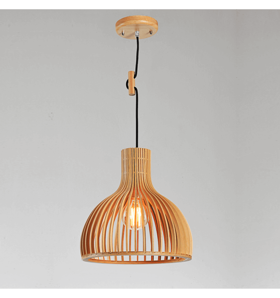 Scandinavian Original Pendant Light With Shade Made Of