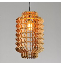 Modern Chinese Lantern Pendant Light made of Basswood - Avy