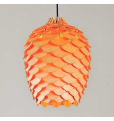 Contemporary Plywood Pinecone Pendant Light - Erma
