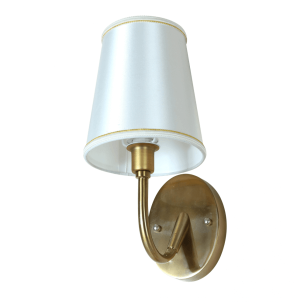 Bronze Antique Wall Light with Fabric Shade - Eden