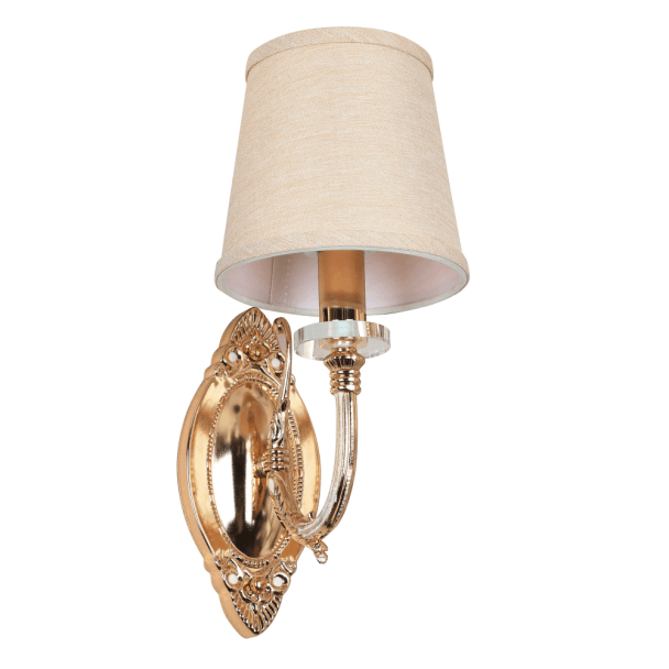 Vintage Gold Wall Light with Cream Shade - Nancy