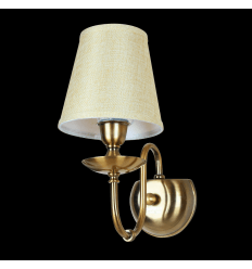 Vintage Bronze Wall Light with Fabric Shade - Calida