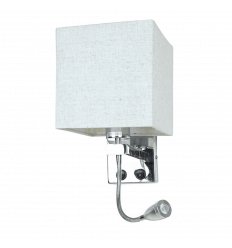 Square-Shaped Wall Mounted Reading Light with Fabric Shade - Hedder