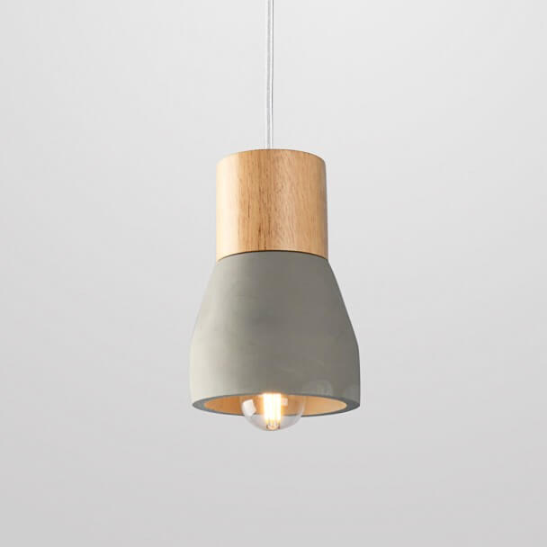 Unique Minimalist Concrete Pendant light - Grey Vika