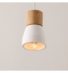 Unique Minimalist Concrete Pendant light - White Vika