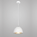 sleek white concrete pendant light - Levia